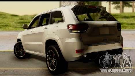 Jeep Grand Cherokee SRT8 2014 para GTA San Andreas left