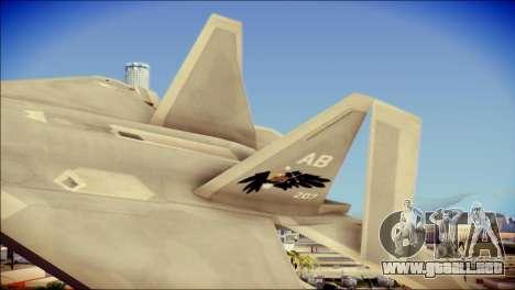 FA-18D Hornet Blue Angels para GTA San Andreas vista posterior izquierda