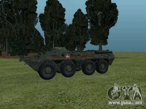 BTR 80 Frente para GTA San Andreas vista hacia atrás
