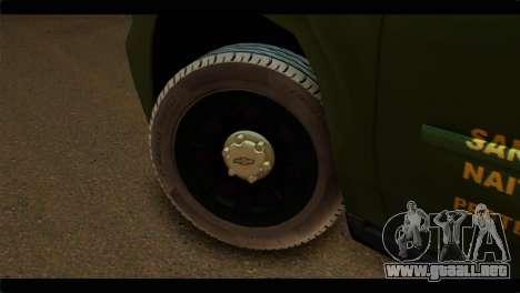 Chevrolet Suburban 2015 SANG para GTA San Andreas vista posterior izquierda
