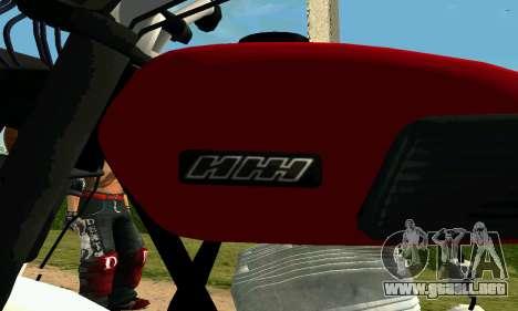 IZH Planeta-4 para GTA San Andreas vista hacia atrás