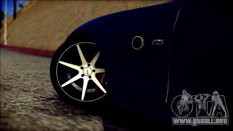 BMW Z4M Coupe 2008 para GTA San Andreas vista posterior izquierda