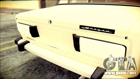 VAZ 2106 Stoke para GTA San Andreas vista hacia atrás