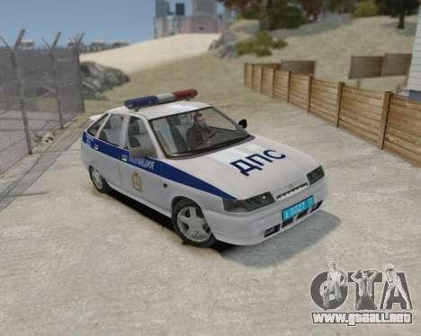VAZ 2112 DPS para GTA 4 Vista posterior izquierda