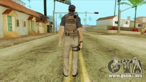 COD Advanced Warfare Jon Bernthal Security Guard para GTA San Andreas segunda pantalla