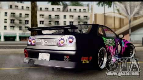 Nissan Skyline GT-R Rize Itasha para GTA San Andreas left