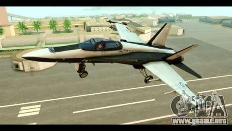 McDonnell Douglas FA-18 HARV v2 para GTA San Andreas