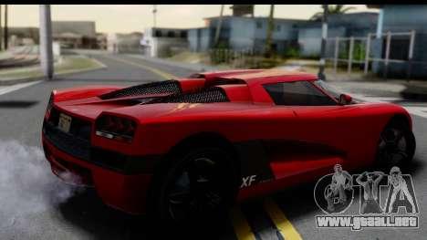GTA 5 Overflod Entity XF para GTA San Andreas left