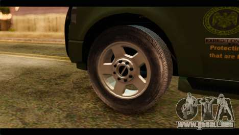 Ford Expedition 2009 SANG para GTA San Andreas vista posterior izquierda