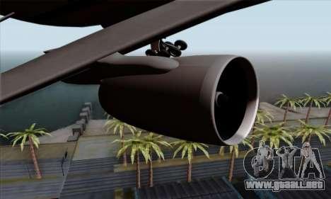 Airbus A380-800 Singapore Airline para la visión correcta GTA San Andreas