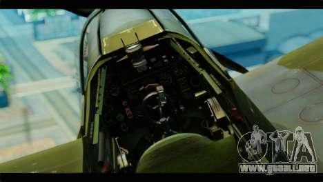 Supermarine Spitfire F MK XVI 318 SQ para la visión correcta GTA San Andreas