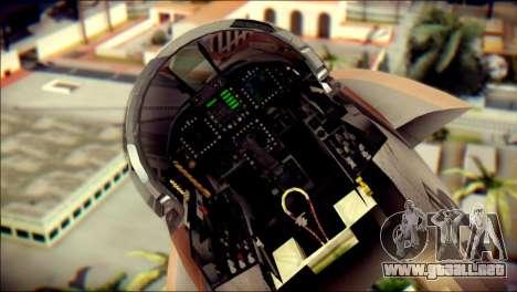 F-18D NSAWC para GTA San Andreas vista hacia atrás