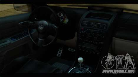 Toyota Altezza Police para la visión correcta GTA San Andreas