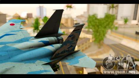 F-15E 303rd TFS Fighting Dragons para GTA San Andreas vista posterior izquierda