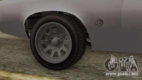 GTA 5 Declasse Stallion IVF para GTA San Andreas vista posterior izquierda