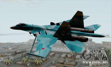 SU-27 Flanker A Warwolf Squadron para GTA San Andreas left