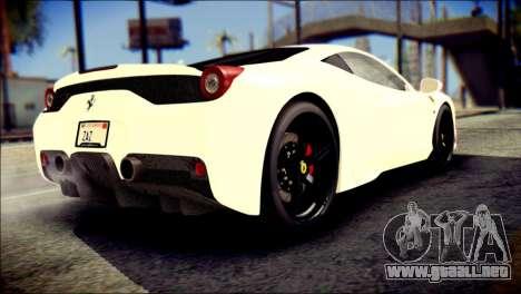Ferrari 458 Speciale 2015 para GTA San Andreas left