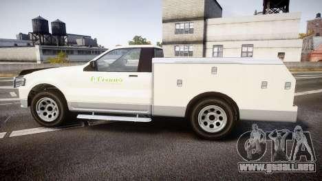 GTA V Vapid Utility Truck para GTA 4 left