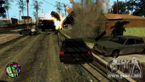 Transporte V2 en lugar de balas para GTA San Andreas octavo de pantalla