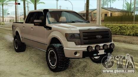 Ford F-150 Platinum 2013 4X4 Offroad para GTA San Andreas