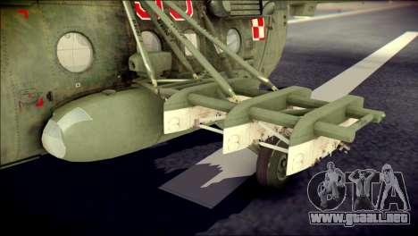 Mil Mi-8 Polish Air Force Afganistan para la visión correcta GTA San Andreas