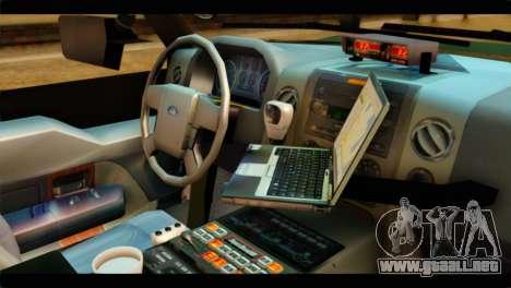 Ford Expedition 2009 SANG para la visión correcta GTA San Andreas