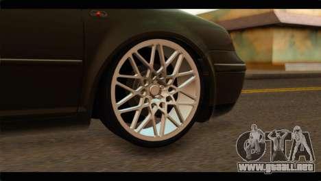 Volkswagen Bora 2007 para GTA San Andreas vista posterior izquierda