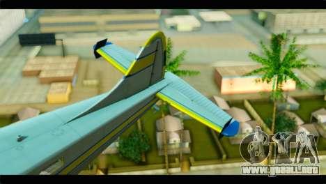 GTA 5 Sea Plane para GTA San Andreas vista posterior izquierda