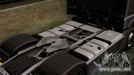 Mercedes-Benz Actros MP4 Euro 6 IVF para GTA San Andreas vista hacia atrás