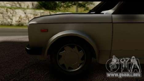 Fiat 128 para GTA San Andreas vista hacia atrás