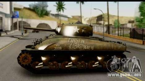 M4A1 Sherman First in Bastogne para GTA San Andreas vista posterior izquierda