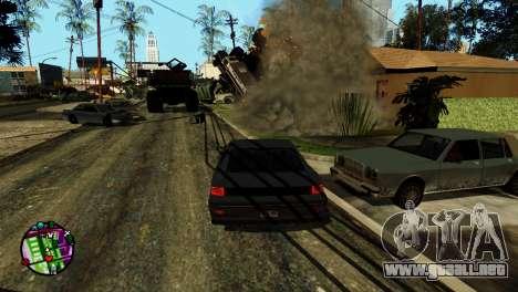 Transporte V2 en lugar de balas para GTA San Andreas sexta pantalla