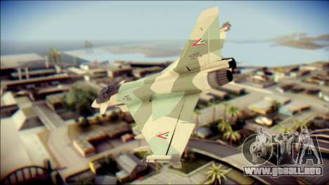 EuroFighter Typhoon 2000 Hungarian Air Force para GTA San Andreas left