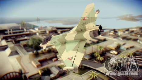 EuroFighter Typhoon 2000 Hungarian Air Force para GTA San Andreas left