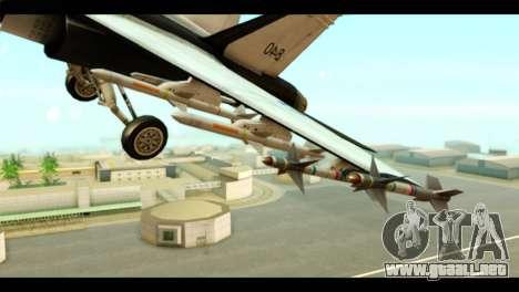 McDonnell Douglas FA-18 HARV v2 para la visión correcta GTA San Andreas