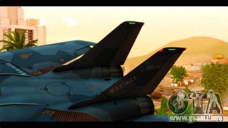 Grumman F-14D SuperTomcat Metal Gear Ray para GTA San Andreas vista posterior izquierda
