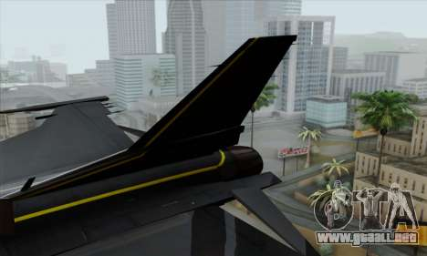 F-16XL para GTA San Andreas vista posterior izquierda
