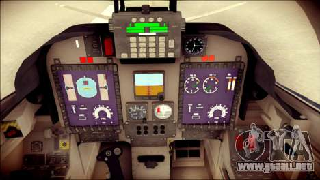 Embraer EMB-314 Super Tucano E para GTA San Andreas vista hacia atrás