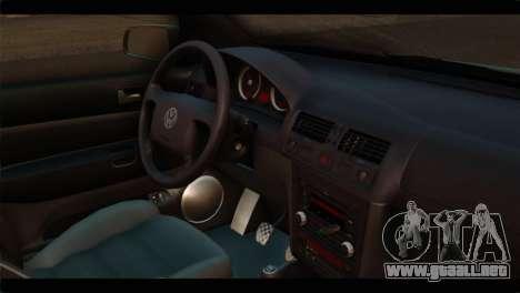 Volkswagen Bora 2007 para la visión correcta GTA San Andreas