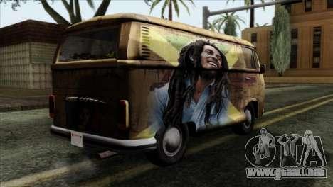 Volkswagen T2 Bob Marley para GTA San Andreas left