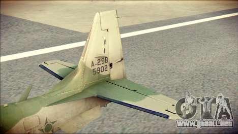 Embraer EMB-314 Super Tucano E para GTA San Andreas vista posterior izquierda