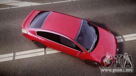 Nissan Altima 3.5 SE para GTA 4 visión correcta