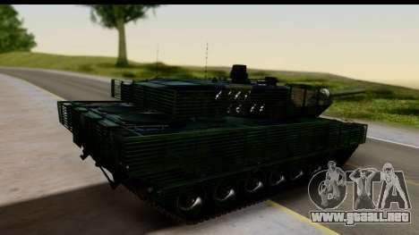 Leopard 2A6 Woodland para GTA San Andreas left
