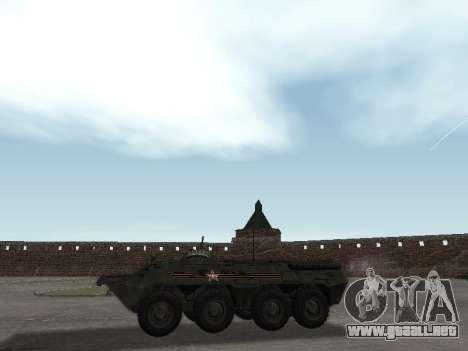 BTR 80 Frente para GTA San Andreas vista posterior izquierda