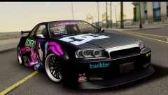Nissan Skyline GT-R Rize Itasha para GTA San Andreas