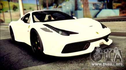 Ferrari 458 Speciale 2015 para GTA San Andreas