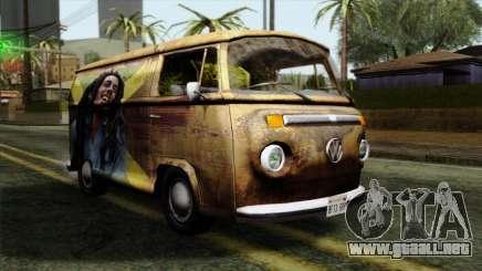 Volkswagen T2 Bob Marley para GTA San Andreas