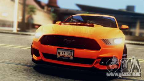 Ford Mustang GT 2015 Stock Tunable v1.0 para vista inferior GTA San Andreas