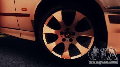 BMW 316i Touring para GTA San Andreas vista hacia atrás