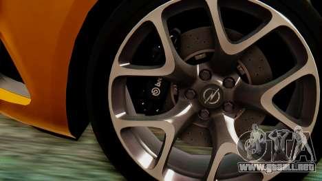 Opel Astra J OPC para la visión correcta GTA San Andreas